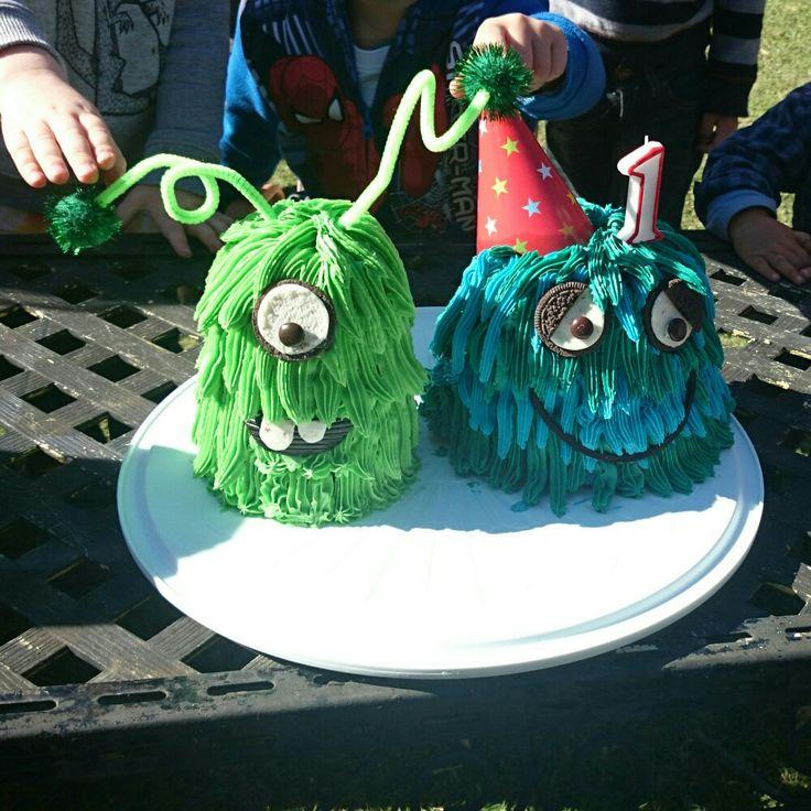 Monster birthday cake buttercream mud cake boys birthday 1