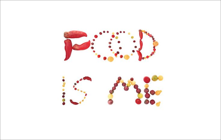Food is Me - Made with Photocollage design tool.  Used the Tomato alphabet.