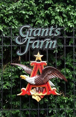Grant's Farm, historic home of Ulysses S Grant plantation, now a wonderful interactive zoo/farm, with free beers in the lunch garden.