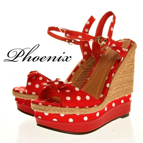 Ebay Red Wedges Shoes