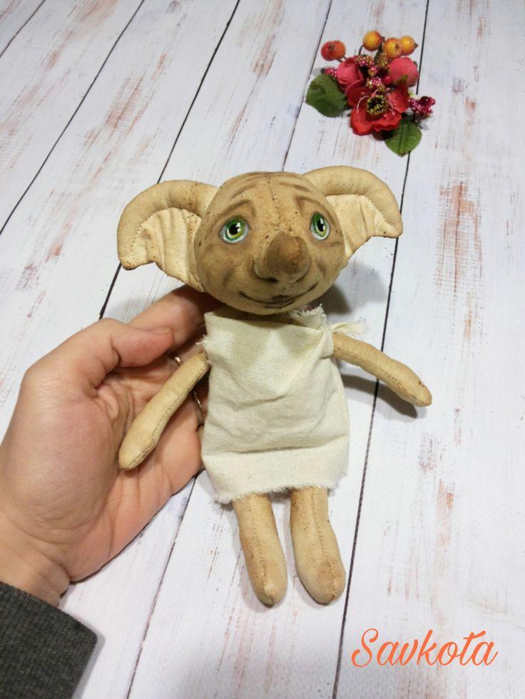 Handmade doll Dobby The House Elf (Harry Potter) 7.5 inches by Savkota on Etsy