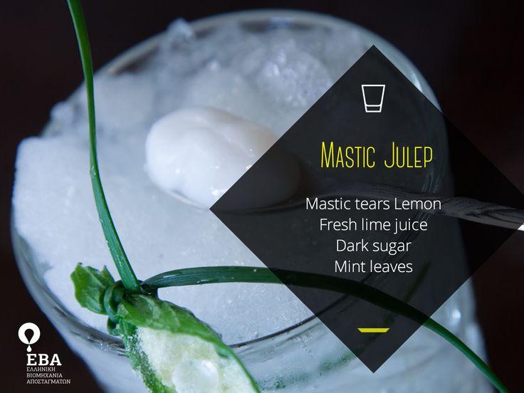 Mastic Julep cocktail: Mastic Tears Lemon, Fresh lime, Dark sugar, Mint leaves  More cocktail recipes: http://www.eva-distillery.gr/mastictears