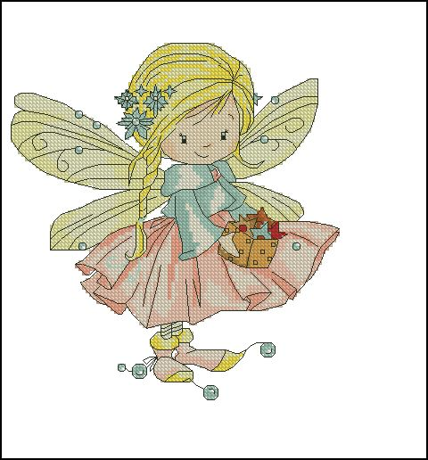 Fairy with a cookie.