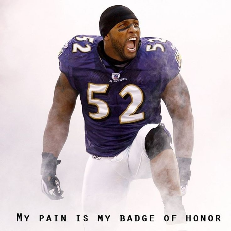 My pain is my badge of honor - Ray Lewis ! #Raylewis #NFL #Pain #Quote #Sports #Positivity #MDUB #Athlete #Picoftheday