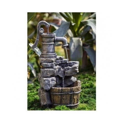Garden Water Fountain Outdoors Decor Rock Garden Waterfall Pump Yard Pond Patio #Unbranded