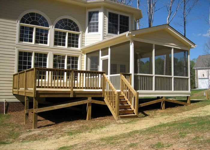 1000 ideas about front porch landscape on pinterest for Building a sunroom on a deck