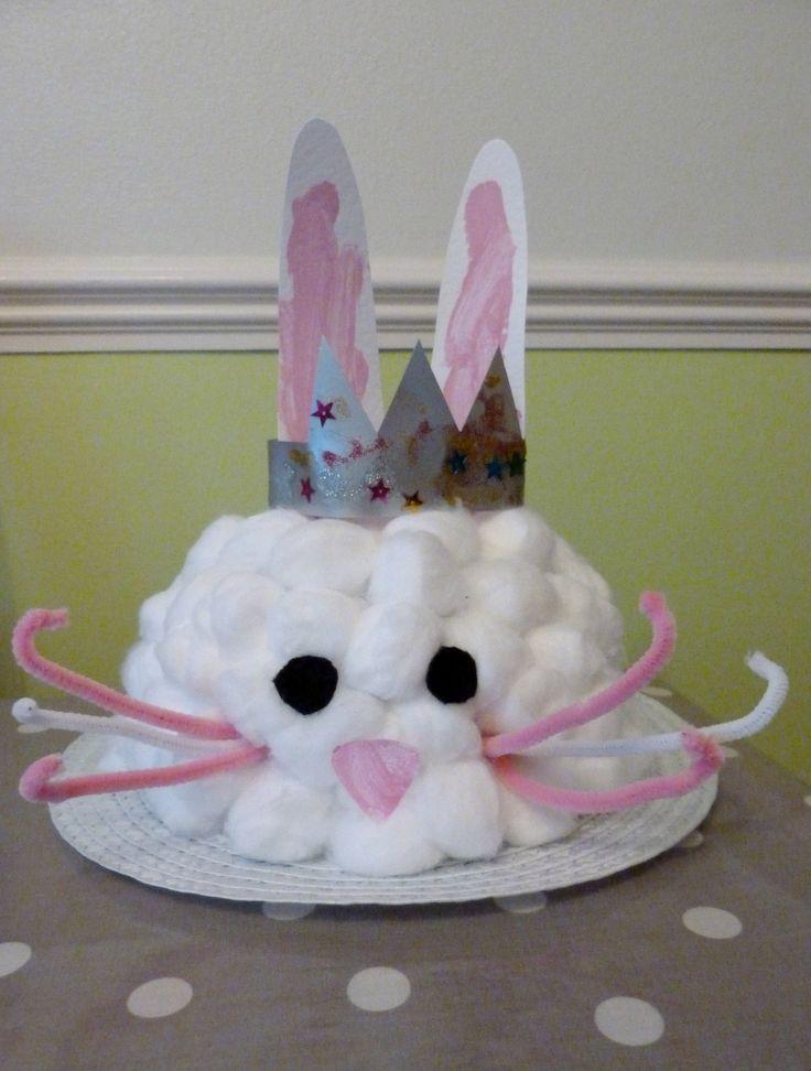 How to make an Easter bunny bonnet https://kizzyandizzy.com/2015/03/22/easter-crafts-bunny-bonnet/