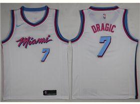 c72f0be13 Miami Heat  7 Goran Dragic White City Edition Swingman Jersey ...