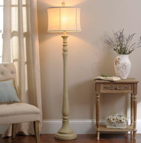 Sandy Cream Floor Lamp | Kirklands