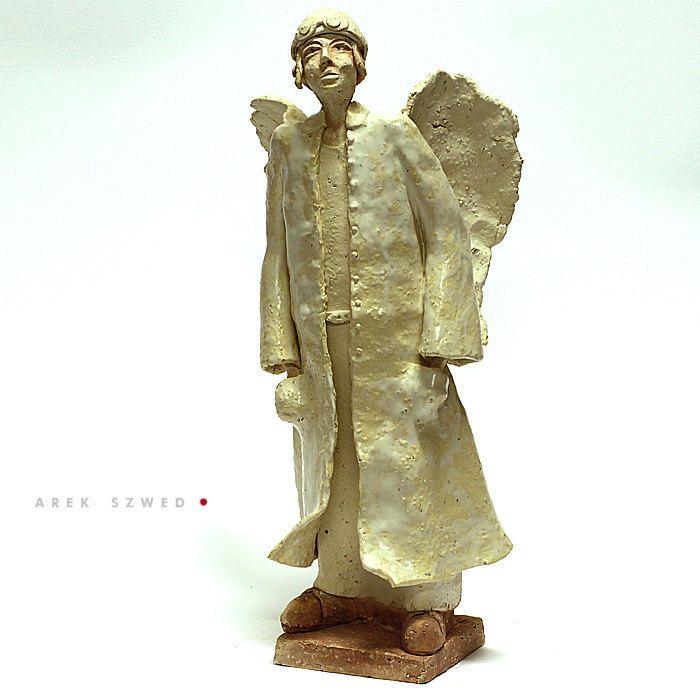 The  White Angel/Ceramic Sculpture /Unique Ceramic Figurine /Ceramic Angel by arekszwed on Etsy