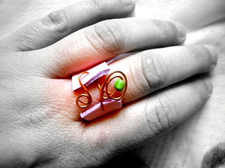 anello in pelle e rame http://serendipityofficinadelleidee.blogspot.it/