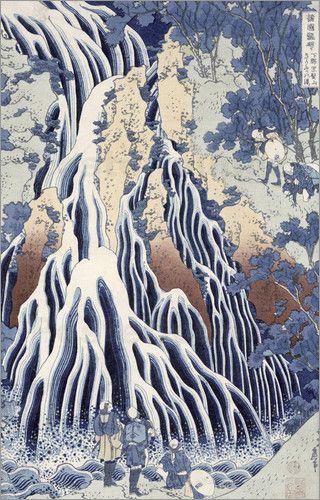 Kirifuri Fall on Kurokami Mount by Katsushika Hokusai, Japan