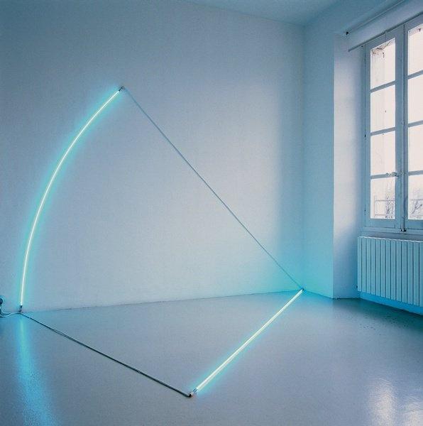 François Morellet, 1 rayon et 1/8 de cercle, 1985