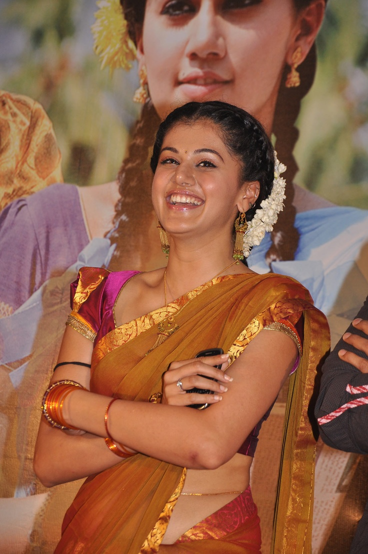 Actress Tapsee In Half Saree