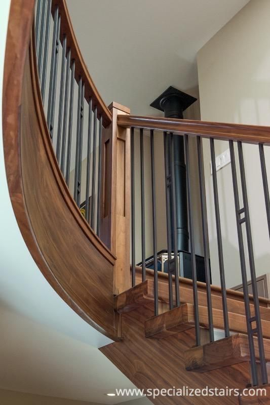 Best 11 Best Self Supported Walnut Staircase Images On 400 x 300