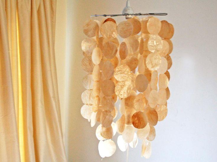 Faux Capiz Shell Pendant | Kitchen Ideas & Design with Cabinets, Islands, Backsplashes | HGTV