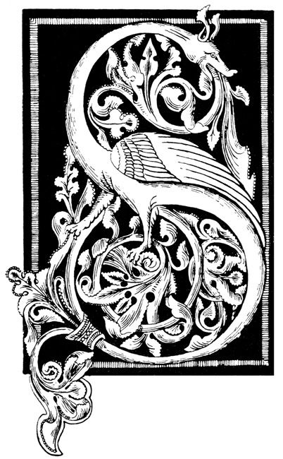 Initial S from a German Ornament