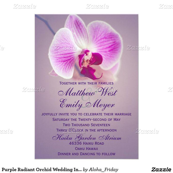 Purple Radiant Orchid Wedding Invitation
