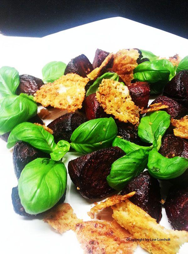 Bagte rødbeder med parmesanchips