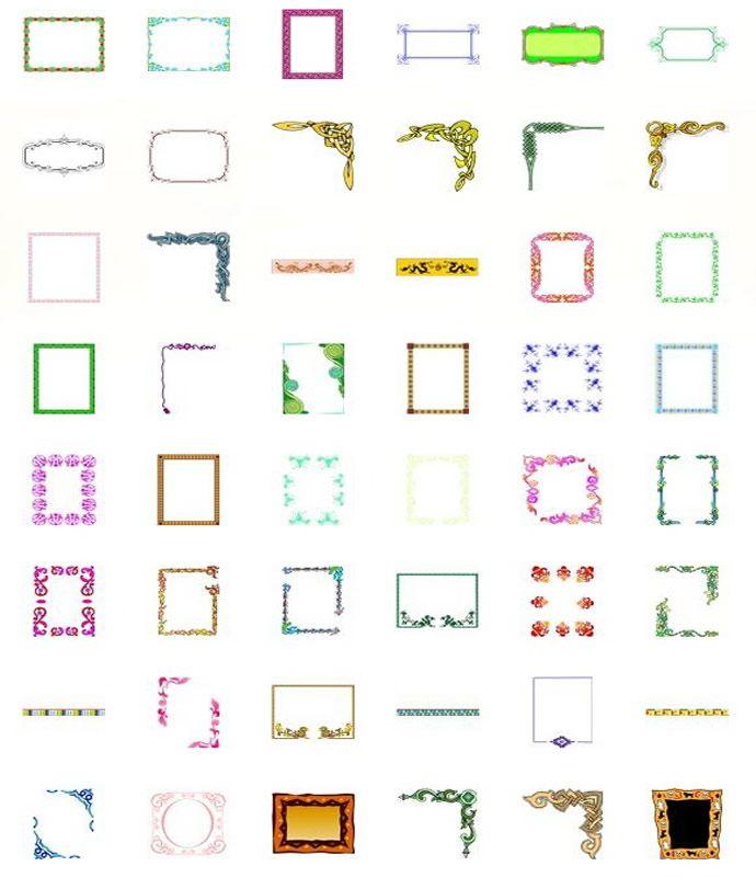 publisher border templates