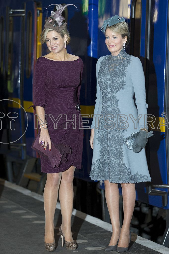 Queen Maxima in NATAN - Utrecht Train Station (Belgian Royal Visit), Utrecht, November 2016