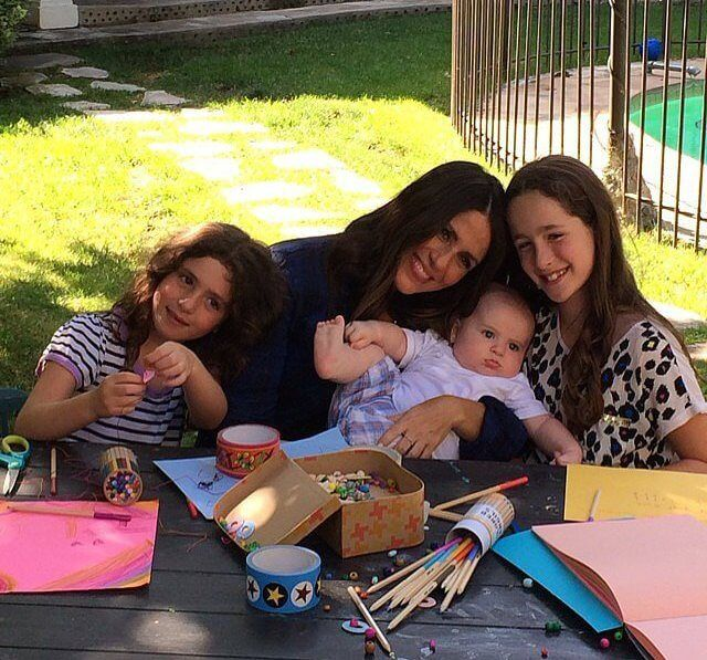 Soleil Moon Frye with her three kids...