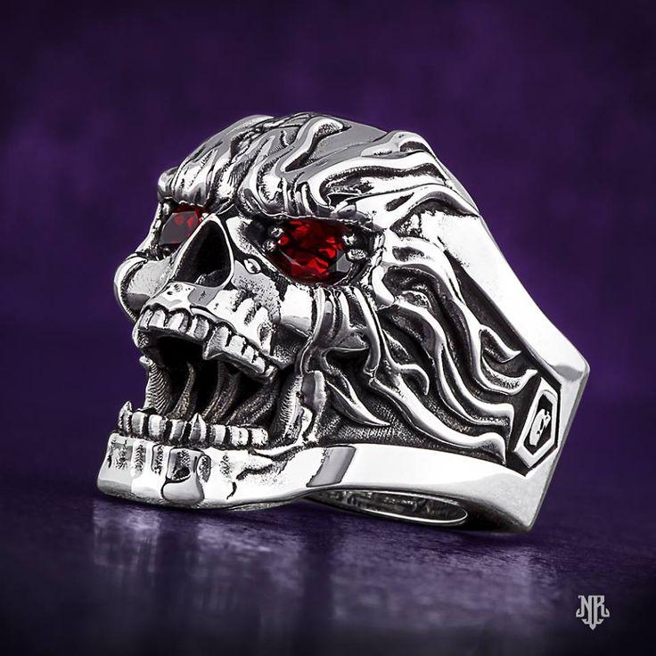He will love this NightRider Fireskull ring!