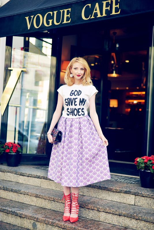 skirt asos shirt shoes steve madden fashion street style blog blogger russia vogue cafe summer angela arutyunyan