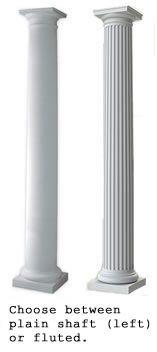 cheap porch posts Choose between plain shaft or fluted column