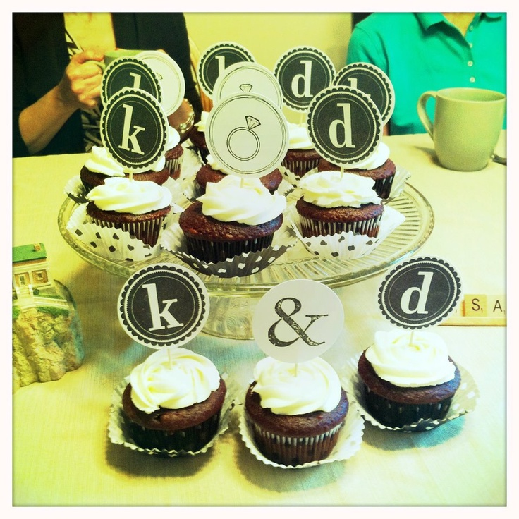 Engagement Party cupcakes! Made by @Kari Amstutz