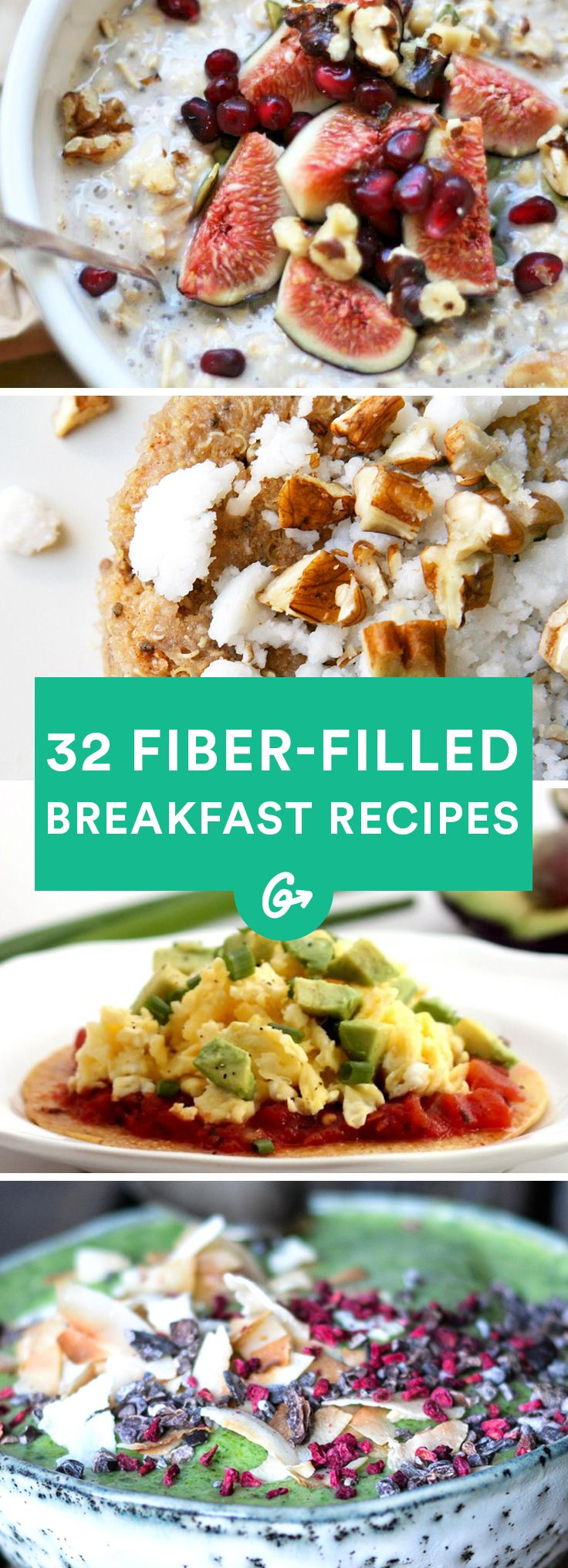 32 Quick Breakfasts That Will Keep You Full Until Lunch #fiber #breakfast #recipes http://greatist.com/eat/healthy-fiber-breakfast-recipes