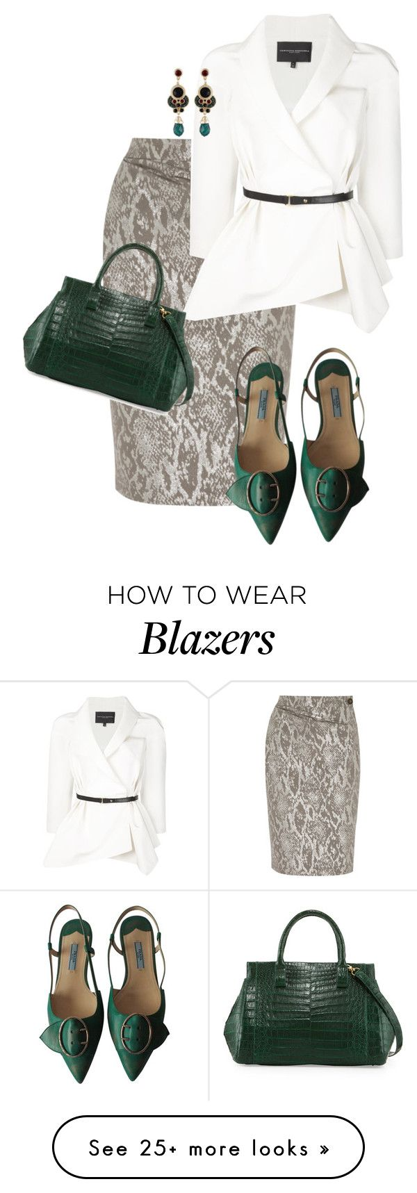 """""""Snake in the Grass"""" by toots2271 on Polyvore featuring Vivienne Westwood Anglomania, Carolina Herrera, Prada, Nancy Gonzalez, women's clothing, women, female, woman, misses and juniors"""