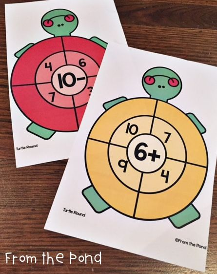 Turtle Round FREE Math Addition Subtraction Center