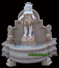 Pequeno fontes de água fonte de parede pedestal fonte de parede de pedra natural pequenos água fontes de parede com escultura de anjo(China (Mainland))