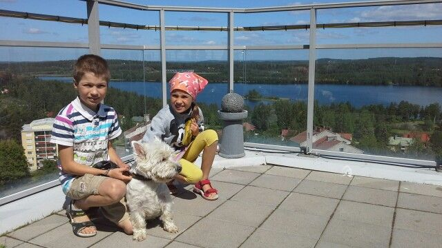 Huimat näköalat! #Water_tower #VCity_of_Varkaus #Finland #Summer #Westie #Kuopionalue