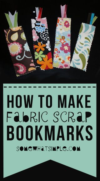 Make these adorable bookmarks out of scrap fabric!