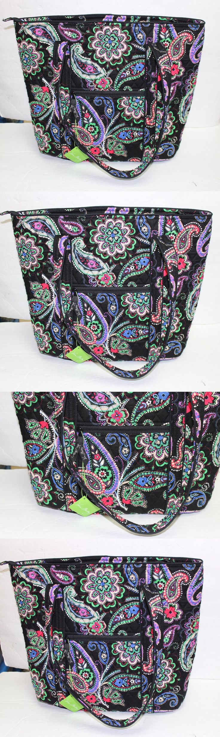 Women Bags And Accessories: Nwt Vera Bradley Vera Xl Extra Large Tote Bag Kiev Paisley BUY IT NOW ONLY: $59.95