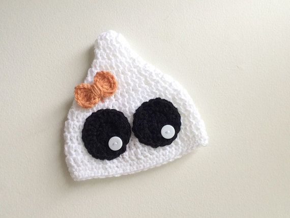 Crochet Baby Ghost Hat by soapandstitch