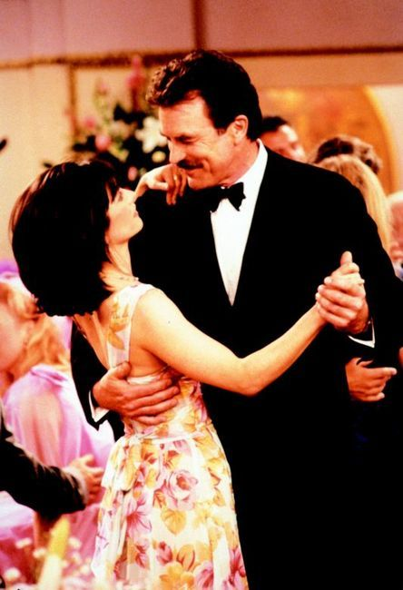 "Tom Selleck guest stars on Friends as Monica's boyfriend. Or as we call him in my house, ""handsome""."