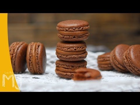 Las Recetas de MJ   MACARONS DE CHOCOLATE A LA NARANJA - YouTube