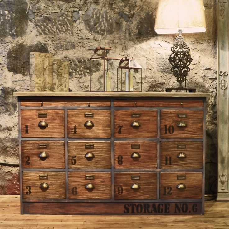 casa industrial wood brooklyn of chest wide solid drawer drawers reclaimed large
