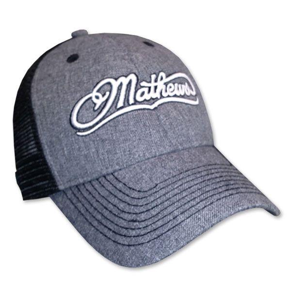 Bowtech Hats: Mathews Black Pepper Mesh Hat With Mathews Embroidered