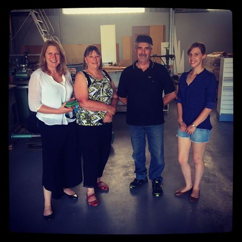 Jess travelled to Ballarat today to view the warehouse that Eureka Mums have found and meet with the landlord Ray Suttie. Here she is (left) with Di, Fundraising Manager for Eureka Mums, Ray and Erin, founder of Eureka Mums. Its a fantastic warehouse so next step is lease negotiations! Thank you to everyone who has made this possible by supporting the Eureka Mums rent appeal!