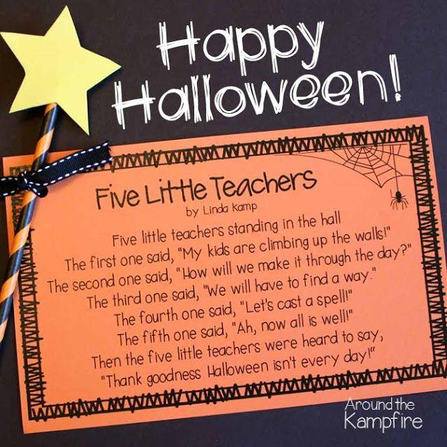 Free printable Halloween poem for teachers