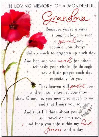 in+loving+memory+grandmother+poems | In Loving Memory Poems For Grandmother In loving memory of a