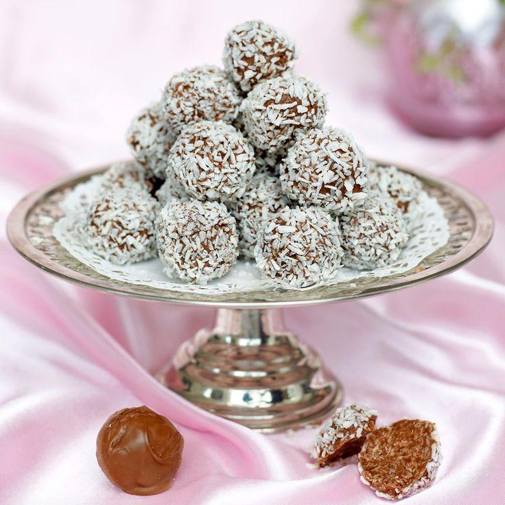 Ljuvliga chokladbollar med en härlig smak av mjölkchoklad