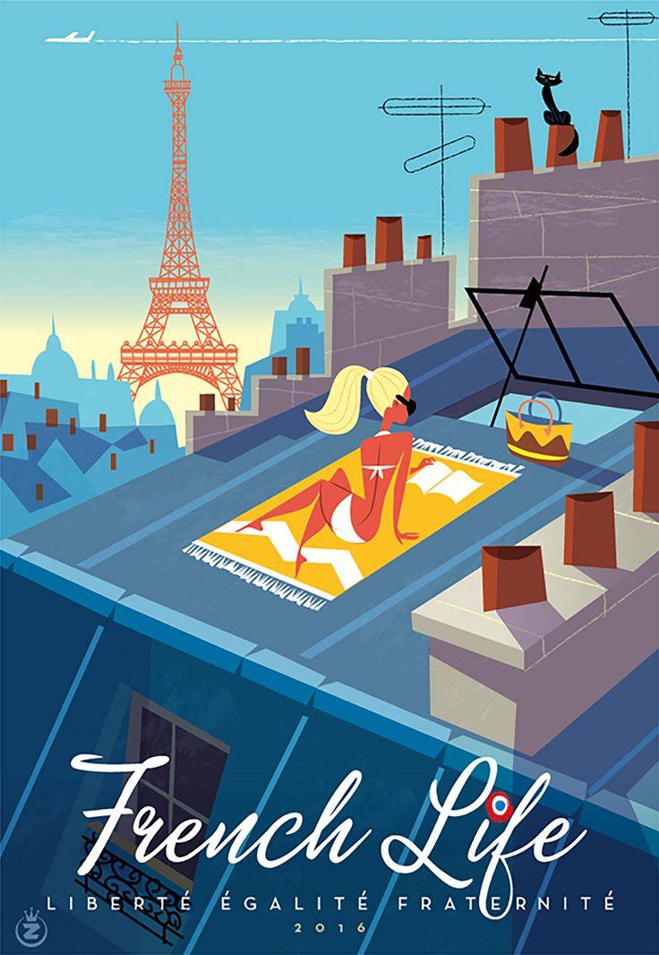 ассортимент плакат ретро франция прочем, ладонь -звезду