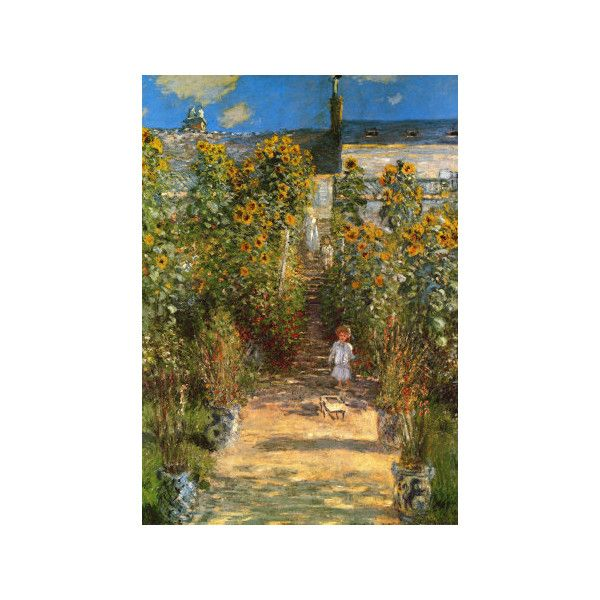 The Garden At Vetheuil Wall Art Print 99 DKK Liked On Polyvore Featuring Home Decor Comics By Publisher Entertainment