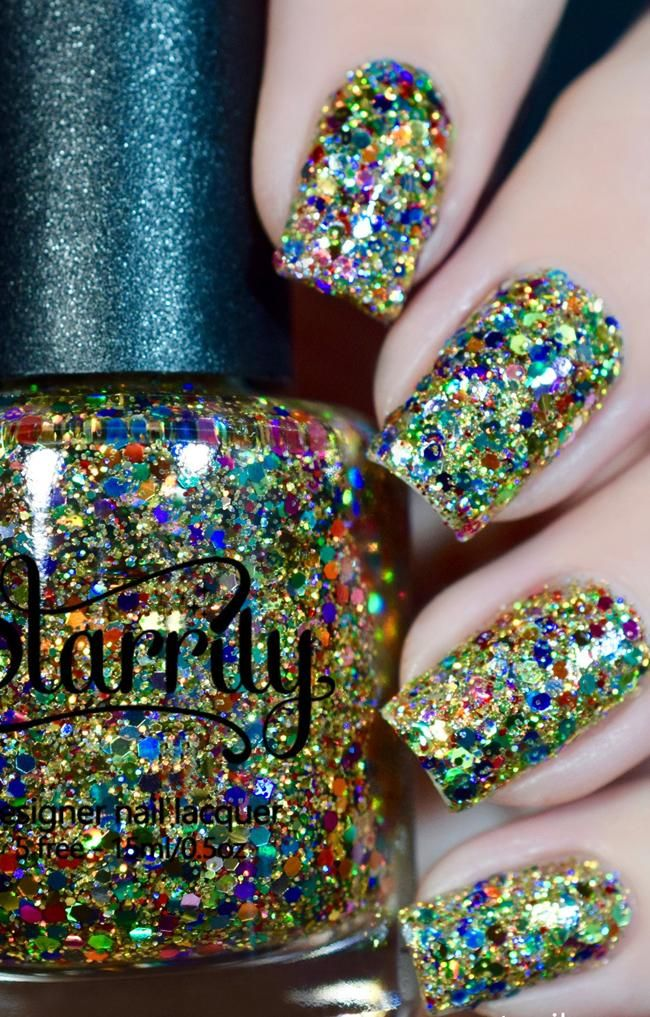 Christmas Lights Nail Polish Christmas Nail Designs Holiday Nails Glitter