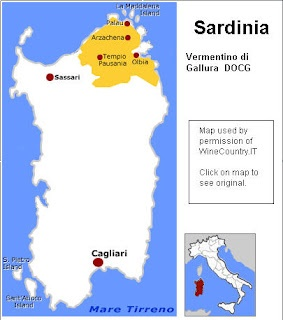 There are   two regions for Vermentino on Sardinia